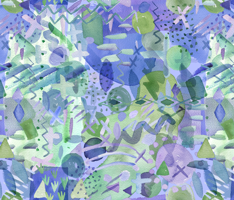 Such a Strange Watercolor fabric by noondaydesign on Spoonflower - custom fabric
