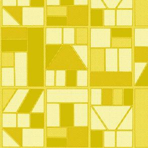 Ben-Day Comic Frames Yellow