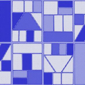 Ben-Day Comic Frames Blue