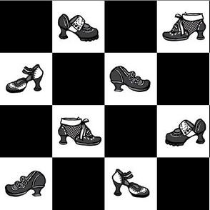 Fluevog Shoe Checkerboard