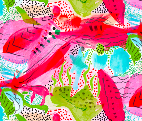 Lipstick at Tiffany's fabric by orangefancy on Spoonflower - custom fabric