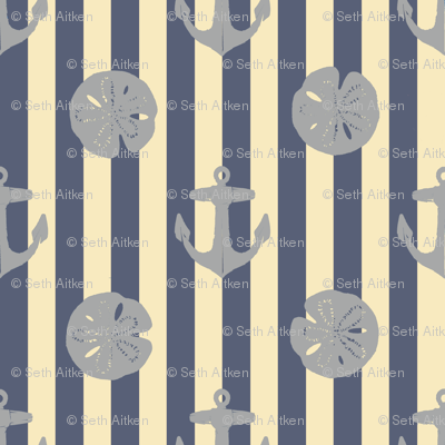 anchors_and_sandollars_gray_on_weathered_blue_and_cream