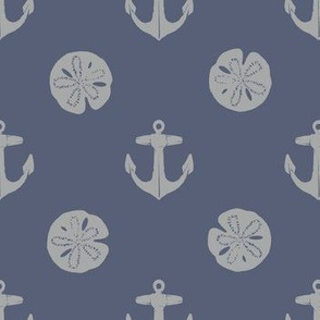 anchors_and_sandollars_gray_on_weathered_blue