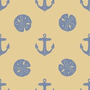 anchors_and_sandollars_grayblue_on_khaki
