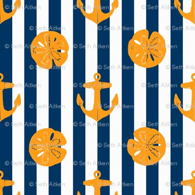 anchors_and_sandollars_orange_on_navy_and_white