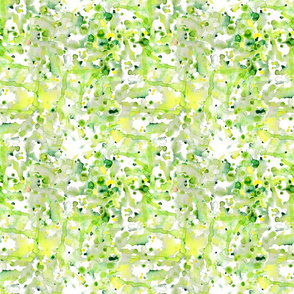 watercolour abstract green