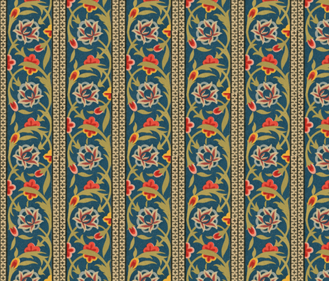 indo-persian 22 fabric by hypersphere on Spoonflower - custom fabric