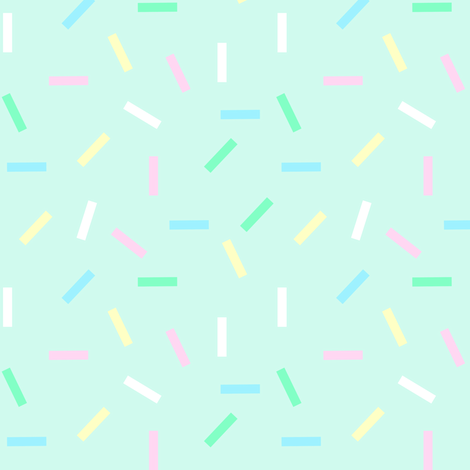 Candy sprinkles on mint fabric by lub_by_lamb on Spoonflower - custom fabric