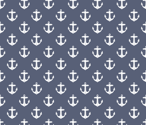 Old Ship's Anchor fabric by heretherebemonsters on Spoonflower - custom fabric