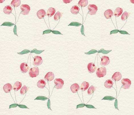 cherries 2 fabric by kae50 on Spoonflower - custom fabric