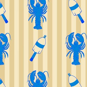 Maine Lobsters and Buoys