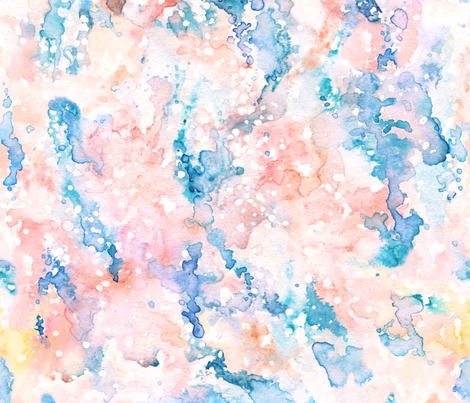 Abstract whimsical watercolor fabric by kotyplastic on Spoonflower - custom fabric