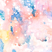 Abstract whimsical watercolor
