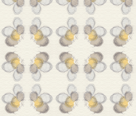 bee buzz square dance fabric by kae50 on Spoonflower - custom fabric