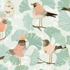 Ginkgo birds