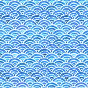 Seigaiha Blue Sea Waves
