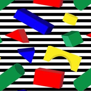 Primary Color Block Shapes