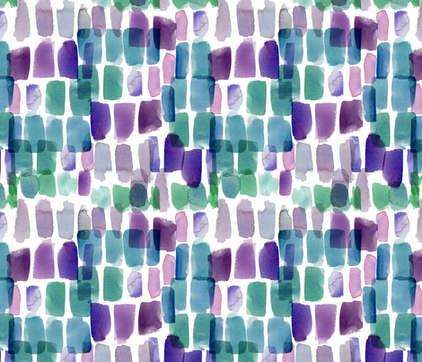 Jewels Watercolour Abstract fabric by katebillingsley on Spoonflower - custom fabric