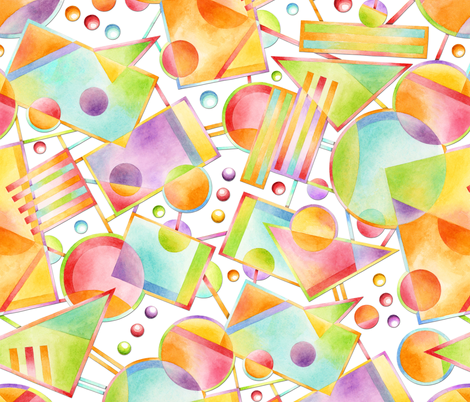 Celebration Abstract Watercolour fabric by patriciasheadesigns on Spoonflower - custom fabric