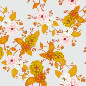Autumn Gold Chinoserie Rose