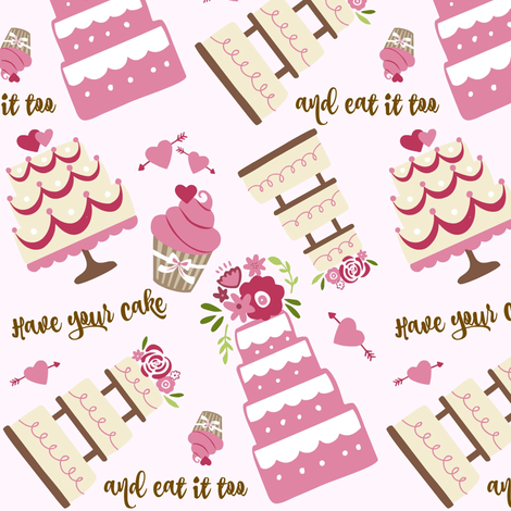 Have your cake... fabric by forthelove on Spoonflower - custom fabric