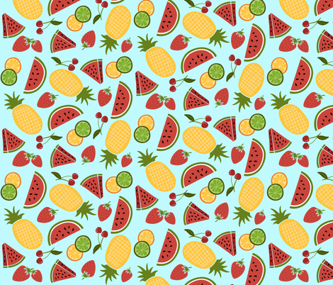 Summer Fruit fabric by forthelove on Spoonflower - custom fabric