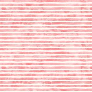 (small scale) watercolor pink stripe  - mermaid coordinate (warm)