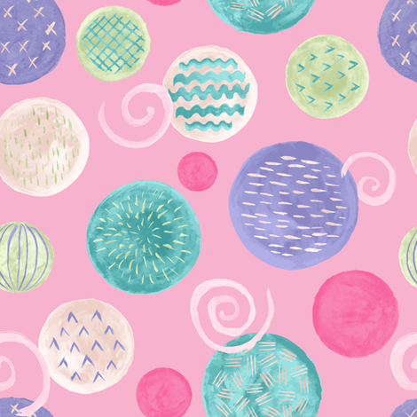 Fun with Swirls and Dots fabric by moonpuff on Spoonflower - custom fabric