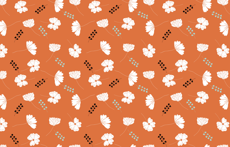 orangeblossom fabric by cotton_and_love on Spoonflower - custom fabric