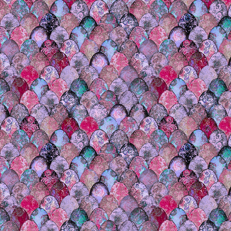 SMALL Easter eggs in mostly pinks, after Faberge, by Su_G fabric by su_g on Spoonflower - custom fabric