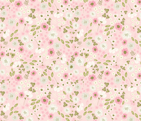 Blossom burst in pink fabric by lisa-glanz on Spoonflower - custom fabric