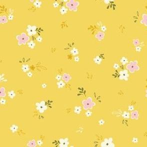 Petite blossom in mustard