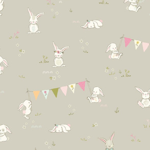 Bunnies have a party