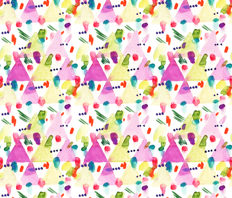 Party_Triangles fabric by laurenthomasdesigns on Spoonflower - custom fabric