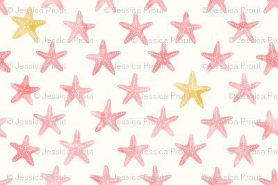 (small scale) starfish - mermaid coordinate (warm)