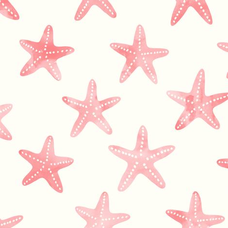 starfish - mermaid coordinate (warm) fabric by littlearrowdesign on Spoonflower - custom fabric