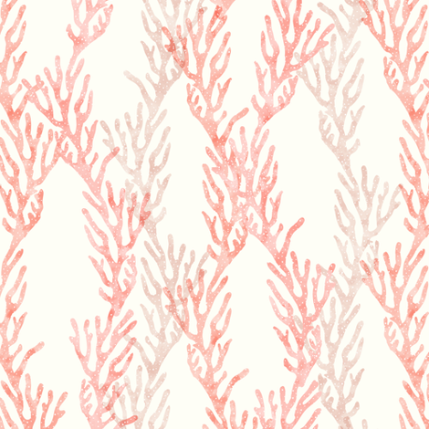 (small scale) coral - mermaid coordinate (warm) fabric by littlearrowdesign on Spoonflower - custom fabric