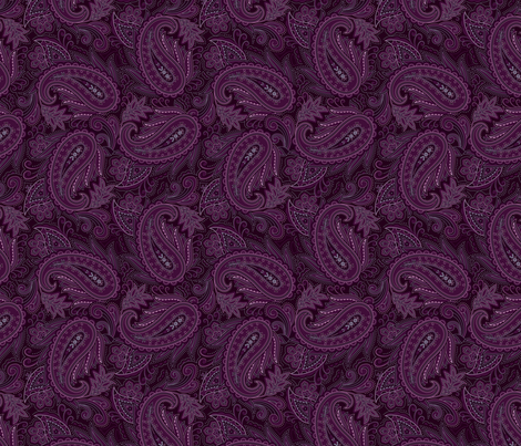 Meredith Paisley - Purple fabric by meganpalmer on Spoonflower - custom fabric