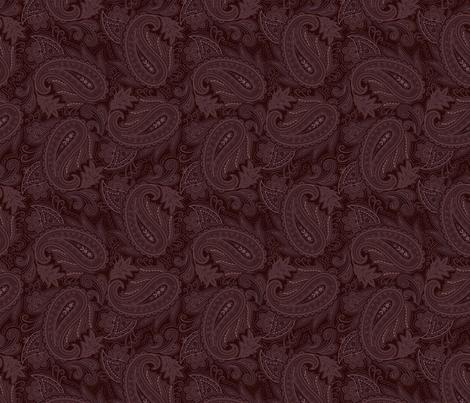 Meredith Paisley - Wine Red fabric by meganpalmer on Spoonflower - custom fabric