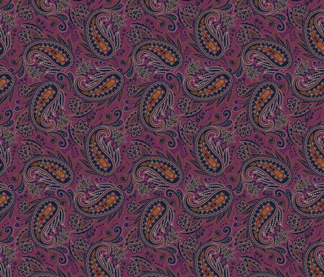 Meredith Paisley - Eggplant Purple fabric by meganpalmer on Spoonflower - custom fabric