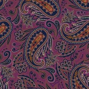 Meredith Paisley - Eggplant Purple