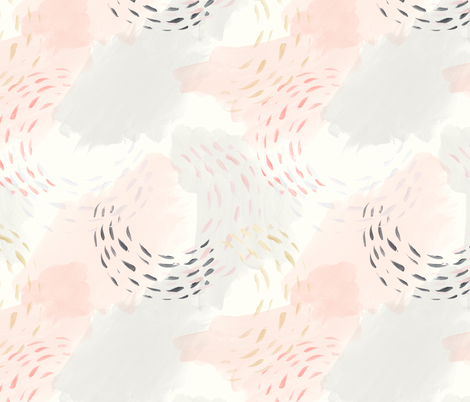 abstract pastel watercolors fabric by littlearrowdesign on Spoonflower - custom fabric