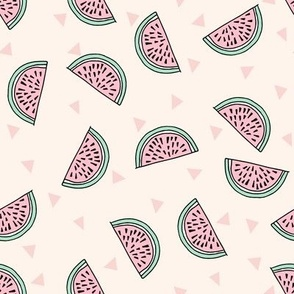 watermelon fabric // summer fruits fabric cute fruit food summer tropical design by andrea lauren - light pastel
