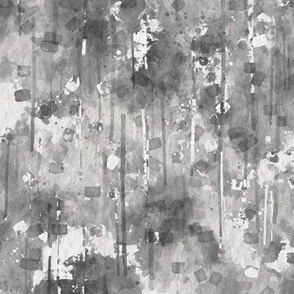 WATERCOLOR ABSTRACT TENDERNESS black and white