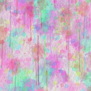 WATERCOLOR ABSTRACT TENDERNESS PINK MINT SHERBET