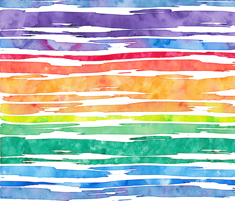 Rainbow Stripes fabric by jvclawrence on Spoonflower - custom fabric