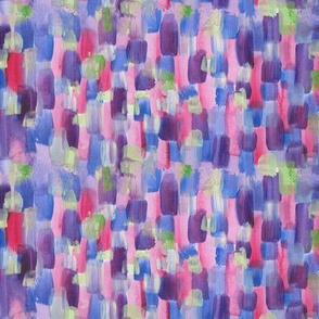Abstract Geometry Watercolour Stripe