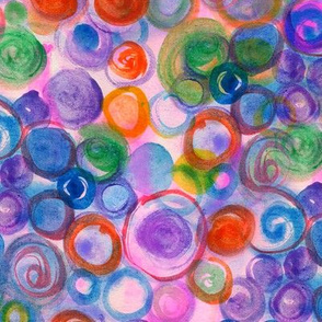 Spring Watercolor Abstract Blooms