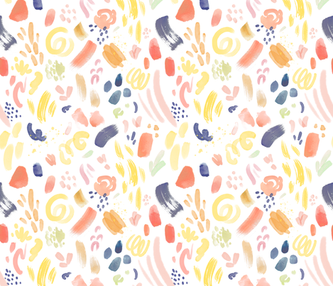 Abstract Modern Watercolor fabric by alyssa_scott on Spoonflower - custom fabric