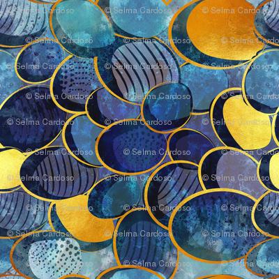 Abstract deep blue